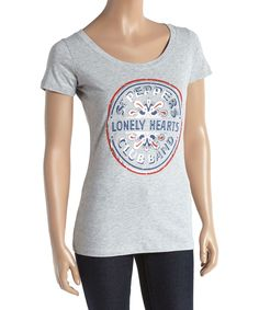 Gray Lonely Hearts Club Band Tee - Juniors