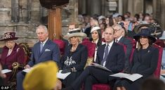 The Royals were seated together towards the front of the Commonwealth Day service