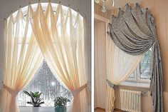 Фотография Rope Shelves, Plant Shelves, Hanging Shelves, Arched Window Treatments, Arched Windows, Home Curtains, Crystal Shelves, Window Dressings, Rustic Wall Decor