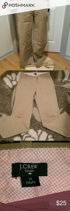 JUST LISTED! J. Crew city fit plain front chinos Size 2s. In excellent condition, barely worn. Wider leg st bottom, 30 inch inseam. J. Crew Factory Pants Boot Cut & Flare