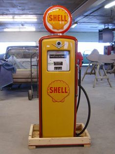 Beautifully restored Shell gas pump.