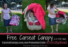 FREE CARSEAT CANOPY #baby #Gift