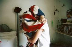 snuggling in a Union Jack? sounds about right.