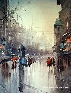 Dusan Djukaric  love this rainy day atmosphere in Knez