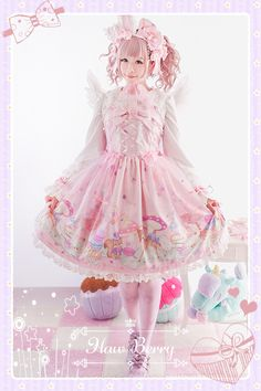 -Zoo Tea Party Invitations- Normal Waist Lolita Jumper Dress