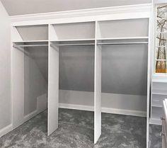 closet sloped ceiling closets More Schlafzimmer Schrank Design-Ideen 5 Mind Blowing Ideas: Cozy Attic Beds attic bathroom garage. Attic Bedroom Closets, Attic Closet, Attic Bathroom, Attic Rooms, Diy Bedroom, Closet Rod, Closet Wall, Trendy Bedroom, Garage Attic