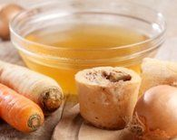 Bone Broth Benefits for Digestion, Arthritis, and Cellulite and healing leaky gut, the prime source for more ailments than I can list here.