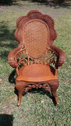 Superb Childs Natural Antique Victorian Wicker Rocker Heywood Ncnpc Chair Design For Home Ncnpcorg