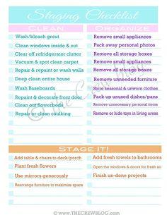 Home Staging checklist