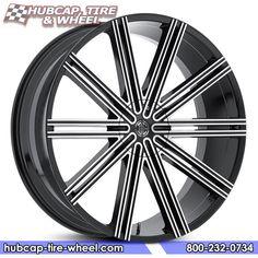 2Crave No.47 Gloss Black Machined Wheels & Rims