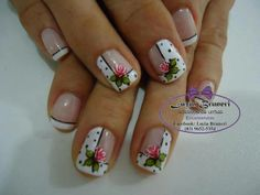 easy cute floral design nail art manicure