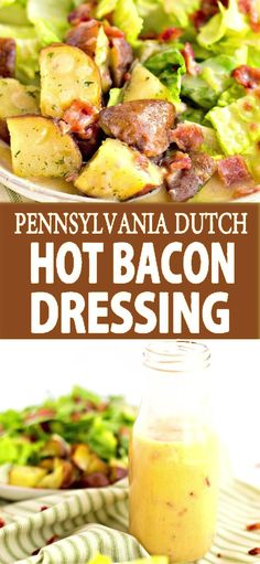 Pennsylvania Dutch Hot Bacon Dressing - We're going Dutch today with the flavors of sweet and sour in a Pennsylvania Dutch Hot Bacon Dressing. Salad Dressing Recipes, Pasta Salad Recipes, Salad Dressings, Pennsylvania Dutch, New Recipes, Dinner Recipes, Cooking Recipes, Amish Recipes, Dutch Recipes