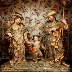 Mid 18th Century (?) - A rococo Holy Family in Aveiro, Portugal.