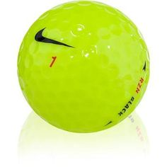 100 Nike RZN Black Yellow Mint Used Golf Balls AAAAA