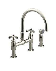 KOHLER K-6131-3-SN Parq Deck-Mount Kitchen Faucet with Spray, Vibrant Polished Nickel by Kohler, http://www.amazon.com/dp/B003L0BQ8Q/ref=cm_sw_r_pi_dp_xKHkrb1KXEYMX