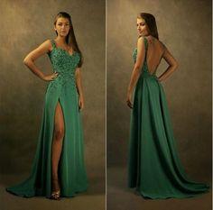 Upd0040, Sweetheart, Long prom dresses, open back prom dresses, split prom dresses, dack green prom dresses