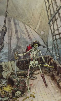 James Gurney  Shiver Me Timbers  Oil
