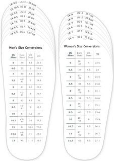 shoes measurement chart for printable adult (men and woman) shoes sizing  chart for printable - My DIY Tips