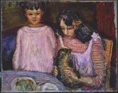 Children and Cat by Pierre Bonnard, 1909
