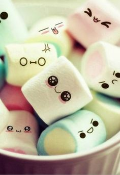 Kawaii Marshmallow Wallpaper