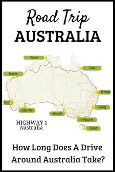 How long does it take to drive from Sydney to Perth or Mebourne to Cairns? - How to plan your road trip and travel around Australia...