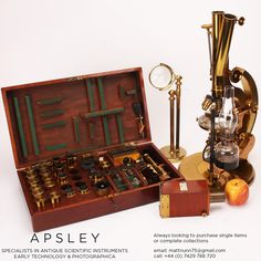 A ROSS-WENHAM UNIVERSAL INCLINING & ROTATING BINOCULAR MICROSCOPE, ENGLISH CIRCA 1888. Signed on the base Ross 5415 this is a fine example of Wenham's Universal Inclining & rotating microscope often referred to as the 'Ross Radial' - With accessories
