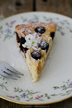 Blaubeer-Käse-Ricotta-Kuchen