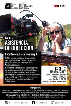 """Laura Goldberg dicta sendo Taller """"Asistencia de Dirección"""", del 13 al 17 de marzo, en el Ateneo de Caracas"""