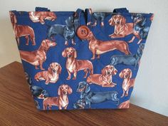 Quilted Dachshund Purse/Tote Dog Purse/Tote by CutePurseNalities