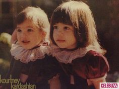 Little Kim and Kourtney Kardashian in matching outfits