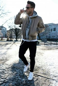 Fabulous Fall Fashion Trends Clothing For Men 36 Fall Fashion Trends, Winter Fashion, Fashion Ideas, Fashion Outfits, Pilot Leather Jacket, Style Board, Vetement Fashion, Herren Outfit, Herve
