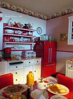 Pamela J Miniatures Kitchen