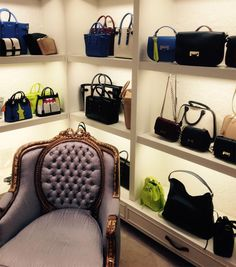 Leather bags at Aspinal of London.