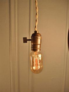 Vintage Minimalist Industrial Bare Bulb Light Sockets by DWVintage