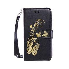 "DEEVOLPO Stand phone case for Samsung Galaxy J1 2016 J120 J120F J1(6) SM-J120F/DS 4.5"" PU Leather Butterfly TPU holder DP13"