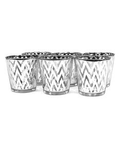 Loving this Silver Zigzag Candleholder - Set of Six on #zulily! #zulilyfinds