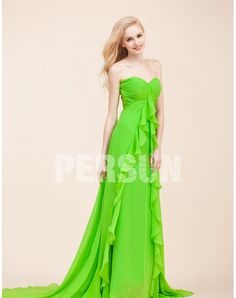 CHIFFON SWEETHEART RUFFLE RUCHING GREEN A-LINE PROM / EVENING DR chiffon wedding dresses  chiffon wedding dresses  chiffon wedding dresses  chiffon wedding dresses
