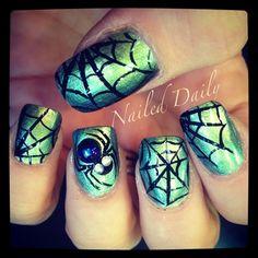 Spider Webs by JVeroNailDesign - Nail Art Gallery nailartgallery.nailsmag.com by Nails Magazine www.nailsmag.com #nailart
