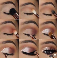 7 simple makeup tips to make your eyes burst .- 7 einfache Make-up-Tipps, um Ihre Augen zum Platzen zu bringen – Style O Check 7 Simple Makeup Tips to Make Your Eyes Burst – Style O Check …, - Makeup Eye Looks, Eye Makeup Steps, Pretty Makeup, Skin Makeup, Eye Makeup Remover, Makeup Eyeshadow, Eyebrow Makeup, Silver Eye Makeup, Perfect Makeup