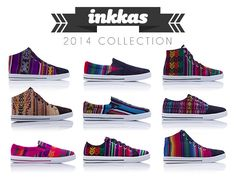 Inkkas Shoes, Peruvian Sneakers, Peruvian Shoes, South American shoes, Gautamalan Shoes >> Inkkas Shoes --> http://www.kickstarter.com/projects/inkkas2014/inkkas-colorful-handmade-south-american-sneakers
