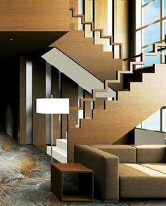 wooden stair railing, modern staircase railing ideas