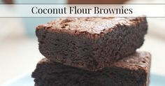 Delicious grain-free, coconut flour brownies are perfect with a tall glass of raw milk or yummy coconut milk! Gluten Free Sweets, Paleo Dessert, Low Carb Desserts, Healthy Sweets, Gluten Free Baking, Healthy Baking, Delicious Desserts, Dessert Recipes, Yummy Food