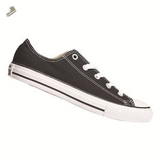 b666c45cd04c38 Converse Boy s Chuck Taylor All Star Ox Pre Grade School Black 10.5 M -  Converse