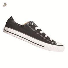 aa21cc3343667 Converse Boy s Chuck Taylor All Star Ox Pre Grade School Black 10.5 M -  Converse
