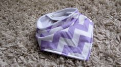 Lavender purple Bandana bib baby to toddler by knitwhitscouture