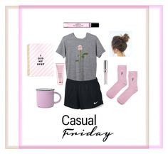"""""""c a s u a l _f r i d a y"""" by lilcogreen on Polyvore featuring NIKE, Topshop, Byredo, Chantecaille, By Terry and Miss Selfridge"""