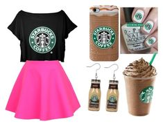 """Starbucks is Life"" by greenypinkstar ❤ liked on Polyvore"