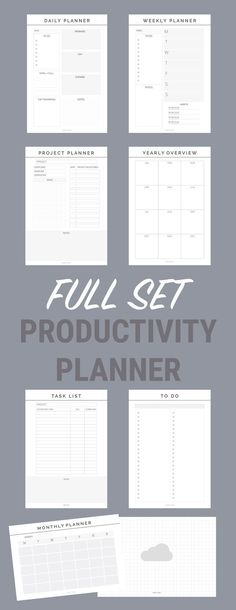 productivity planner Printable Planners, Perfect student planners, planner inserts for student calendars, college student planner, printable inserts, filofax inserts, kikki k inserts, planner inspiration