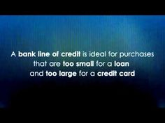 Bank Line of Credit -- Business Funding Tip (+playlist)