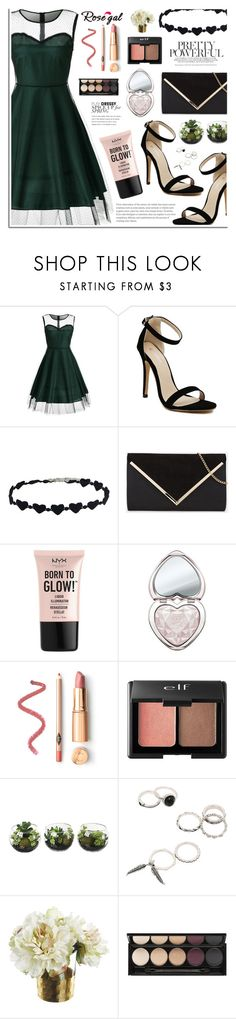 Rosegal by dora04 on Polyvore featuring NYX, Charlotte Russe, Too Faced Cosmetics and Witchery